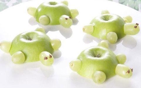 Schildpad appels traktatie